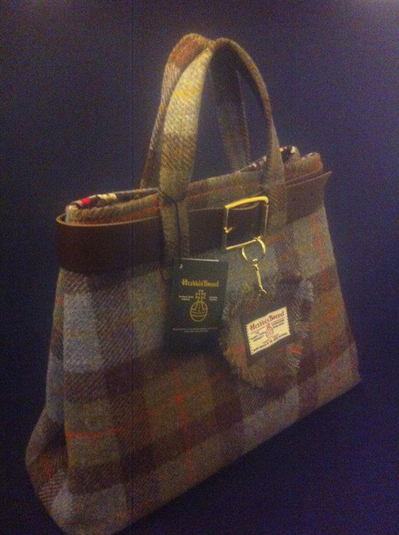 Harris tweed bag/purse made in Scotland womens gift tartan Scottish purse plaid