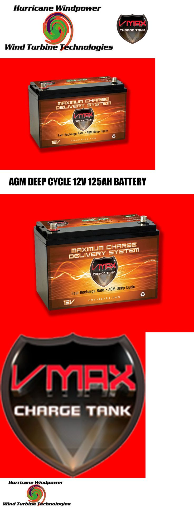 Solar Panels 41981: Slr125 Vmax Agm Deep Cycle 12V 125Ah Battery For Synthesis Renogy Pv Solar Panel -> BUY IT NOW ONLY: $258.99 on eBay!