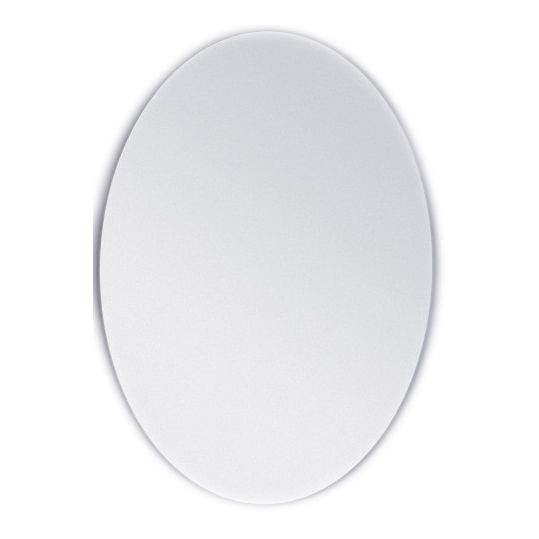 Budget Range – Oval Bevel Edge Bathroom Mirror  Simple, yet stylish, and designed for the budget conscious, this Oval Range of mirrors are made of 5mm qualityimported glasswithvinyl backing conforming to Australian Standard AS2208.  Two (2)sizes are available to suit any desired application.Features a 25mm Bevel Edge  Product Features:  2 Available Sizes  25mm Bevel Edge  Complies to AS2208  Mounted with Metal Hangers  2 SizesAvailable:  W600 x H800 (mm) W750 x H900 (mm)