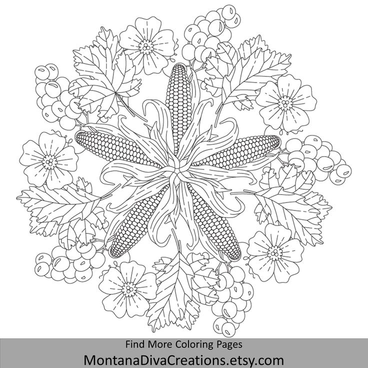 Autumn Mandala Coloring Book 20 Instant Downloadable