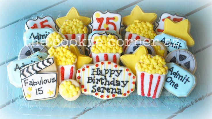 Movie Theater Cookies Popcorn Cookies The Cookie Corner