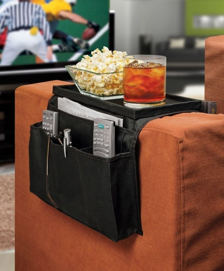 A handy sofa caddy because you officially live on your