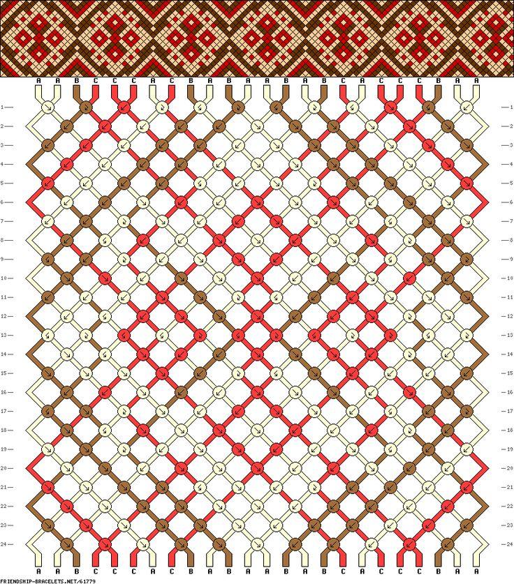 Muster # 61779, Streicher: 24 Zeilen: 24 Farben: 3