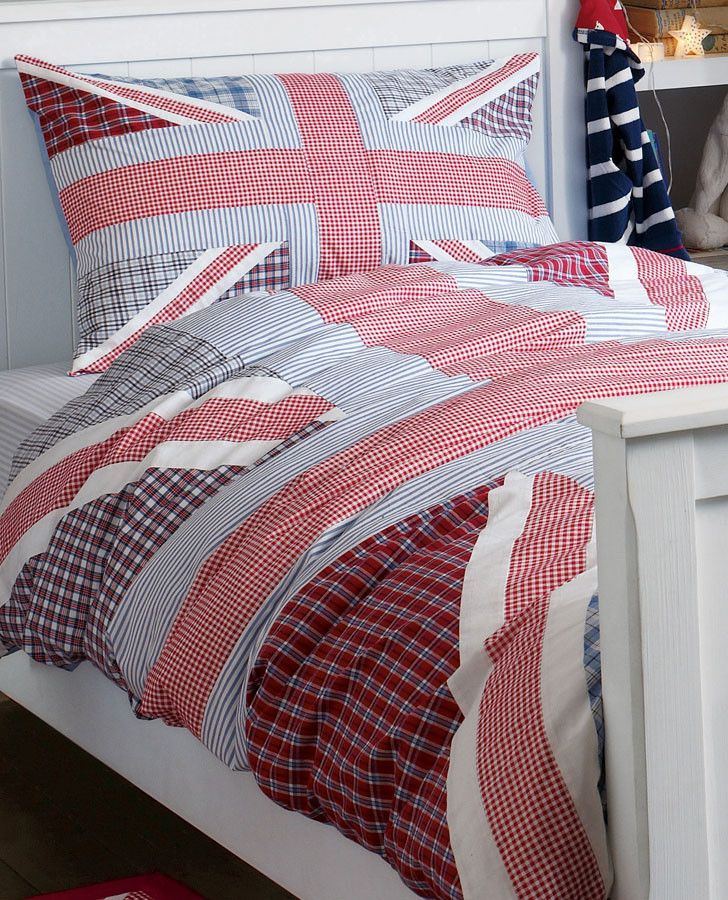 Harry Blue and Red Union Jack Bedset