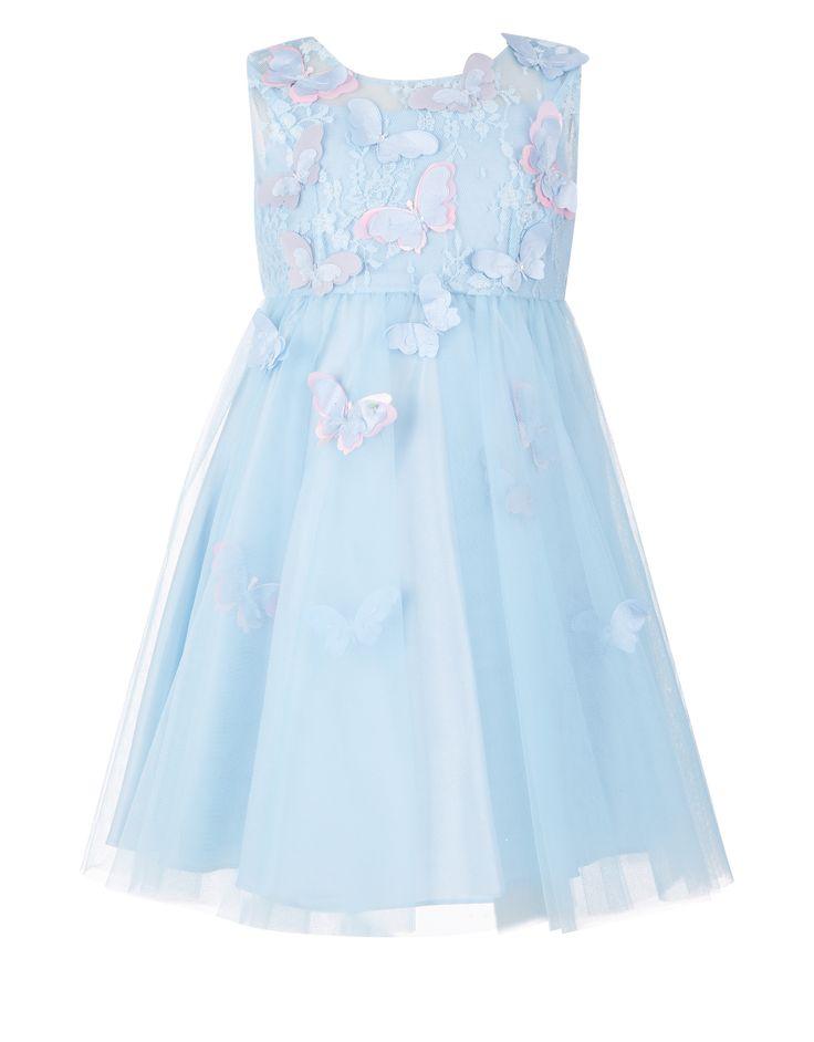 Платье Baby Ruby Butterfly | Синий | Monsoon