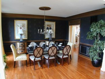 Navy Dining Room | Navy Dining Room With Dark Wood Trim. It Can Be Done