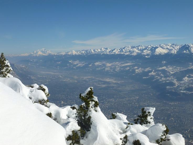 Le Mont Blanc vu du Moucherotte.
