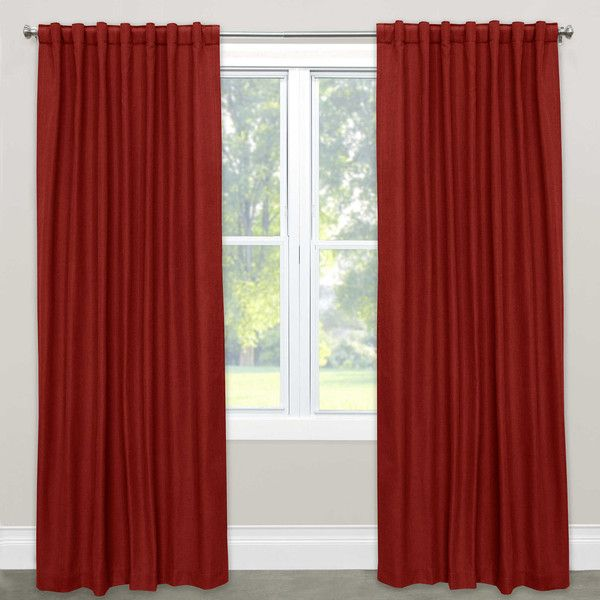 Skyline Furniture Solid Rod Pocket Room Darkening Curtain Panel ($211) ❤ liked on Polyvore featuring home, home decor, window treatments, curtains, rod pocket draperies, rod pocket window panel, room darkening curtains, room darkening window panels and room darkening window treatments