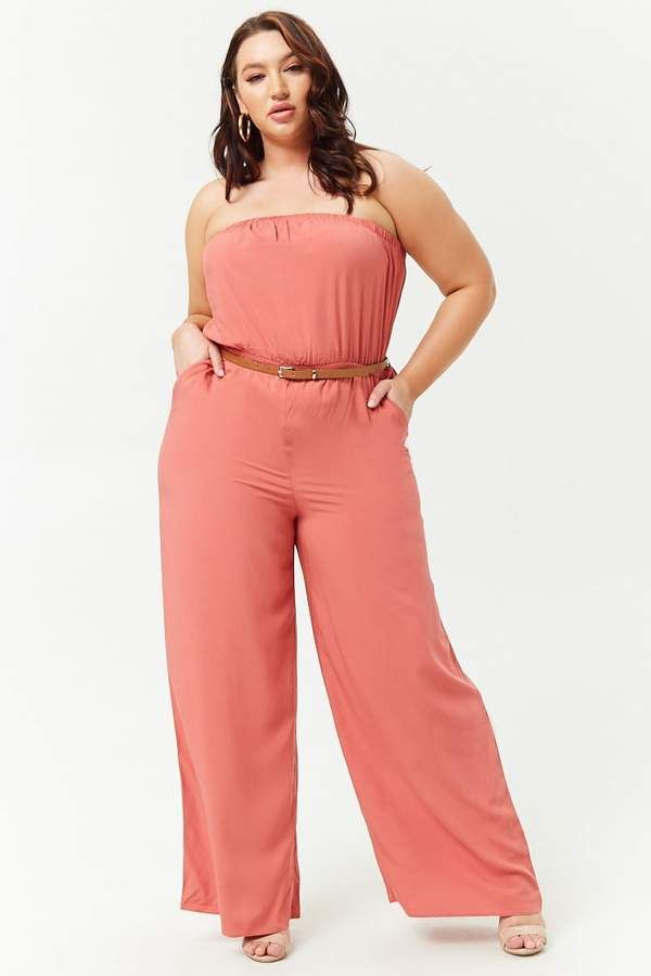 1c42bae846f Forever 21 Plus Size Strapless Jumpsuit