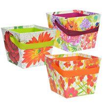 bulk gift basket boxes with ribbon handles at