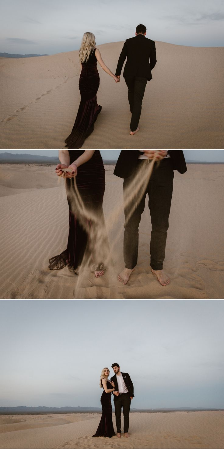 Sand dunes engagement portraits in Southern California by Paige Nelson Photography