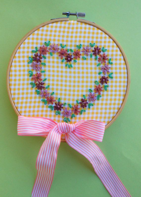 Personalized Embroidery Hoop Custom name hoop by CottonCraftArt