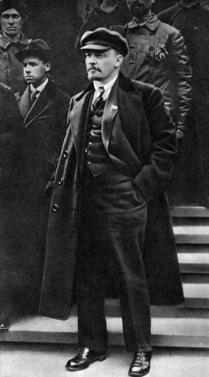 Vladimir Lenin, a Bolshevik (main anti-Tsarist movement) took control 25th October 1917 after the Revolution