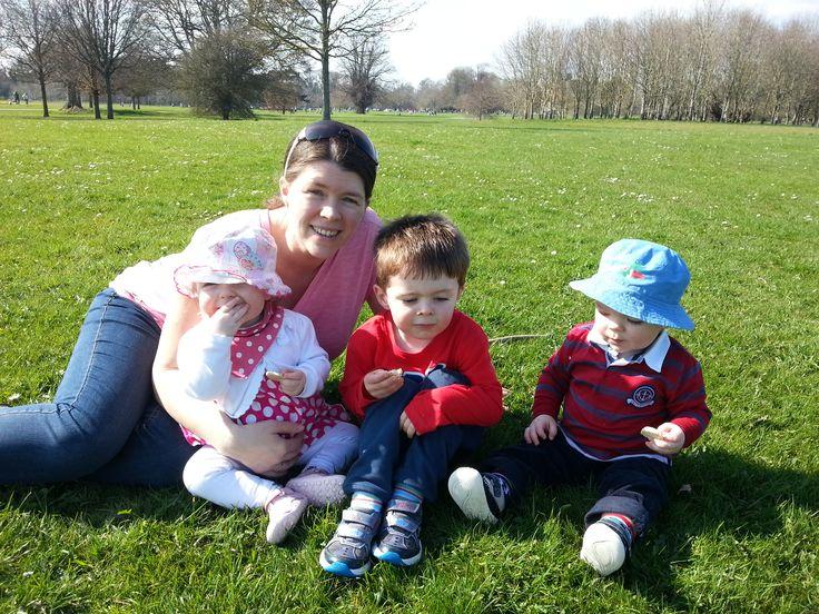 Mom Karen with Conor, Sean and Lauren at Newbridge House and Gardens, Dublin.