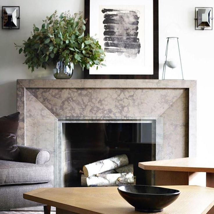 Sleek #livingroom in a Manhattan #bachelorpad by @danmazzarini.  #fireplace…