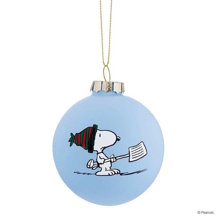 PEANUTS gömb Snoopy/hó kék 8cm