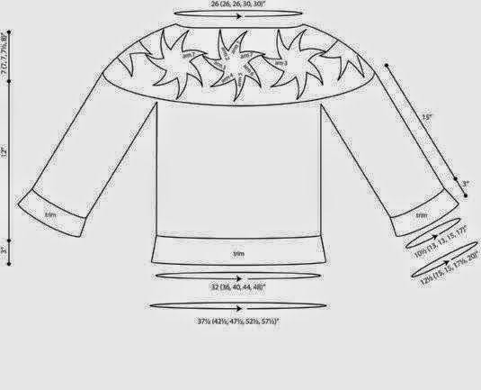Esquemas y moldes de blusa de mangas largas tejida con ganchillo