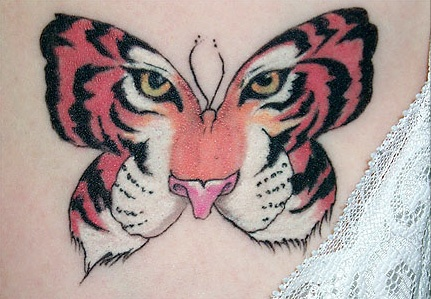 25 unique tiger butterfly tattoo ideas on pinterest for Tiger face in butterfly tattoo