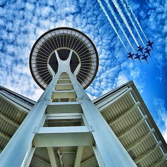Blue Angels & the Seattle Space Needle