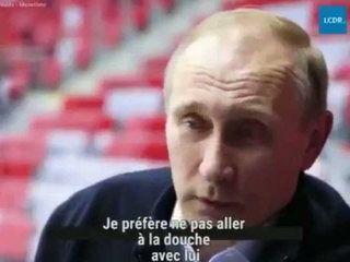 Vladimir Poutine sous la douche avec un homosexuel ? Son étonnante réponse (Vidéo)