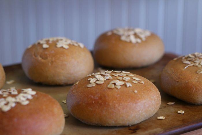 Whole Wheat Hamburger Bun Recipe | The Prairie Homestead