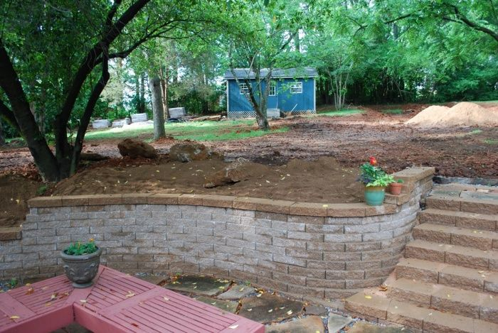 how to build a cobblestone retaining wall
