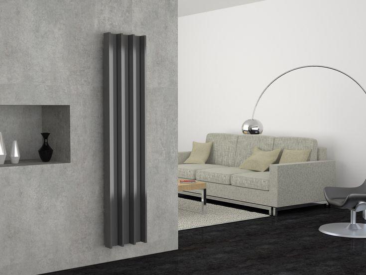 Termoarredo verticale in alluminio GROOVE by CORDIVARI design Mariano Moroni
