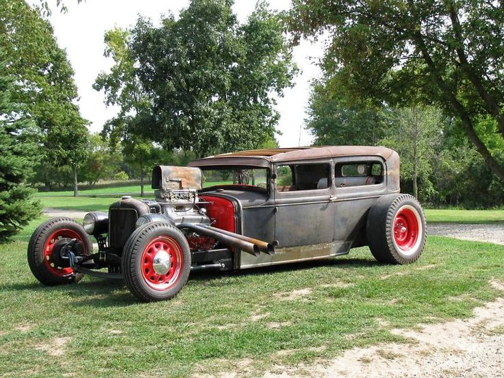 Street Rod Air Cleaners : Ford rat rod hot nicely done mailbox for air