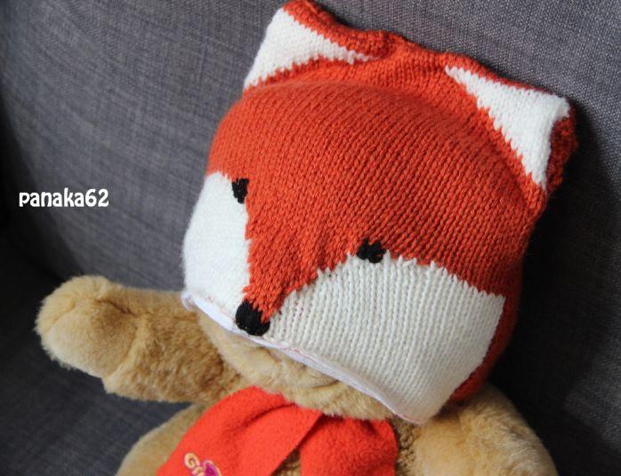 C\u0027est la fête ici aussi  cadeau 1/5 \u2013 un bonnet Renard en tricot (tuto  inside)
