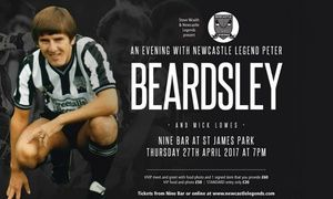 Groupon - An Evening with Peter Beardsley: VIP Ticket with Food, Photo and Optional Signed Item, 27 April (Up to 42% Off) in Nine Sports Bar & Lounge. Groupon deal price: £29