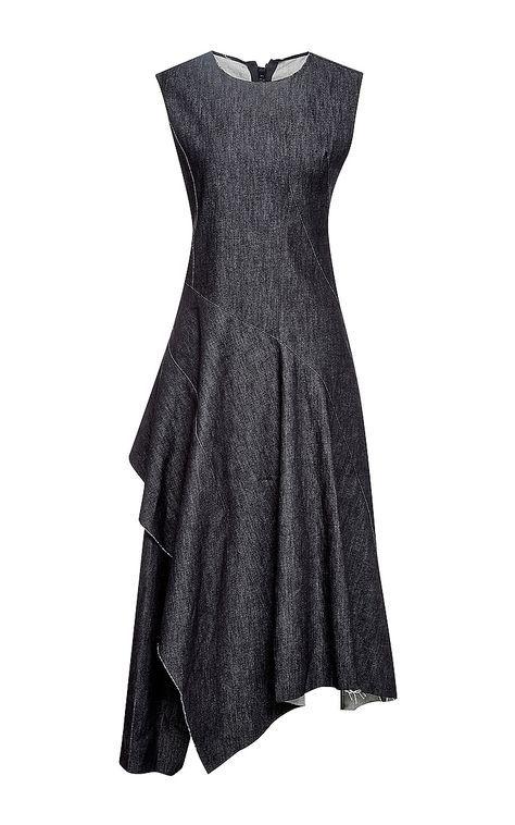 Twisted Twill Denim Dress  by Marni Now Available on Moda Operandi