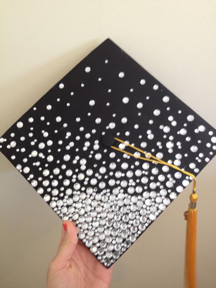 Graduation hat with rinestones!!