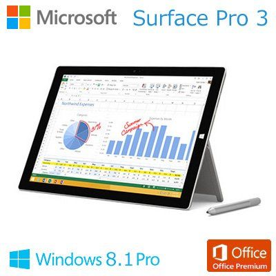 マイクロソフト Surface Pro 3 [サーフェス プロ](Core i3/64GB) 単体モデル [Windowsタブレット] 4YM-00015 (シルバー) マイクロソフト http://www.amazon.co.jp/dp/B00O2XAEDE/ref=cm_sw_r_pi_dp_-lQEub0MD1YB7