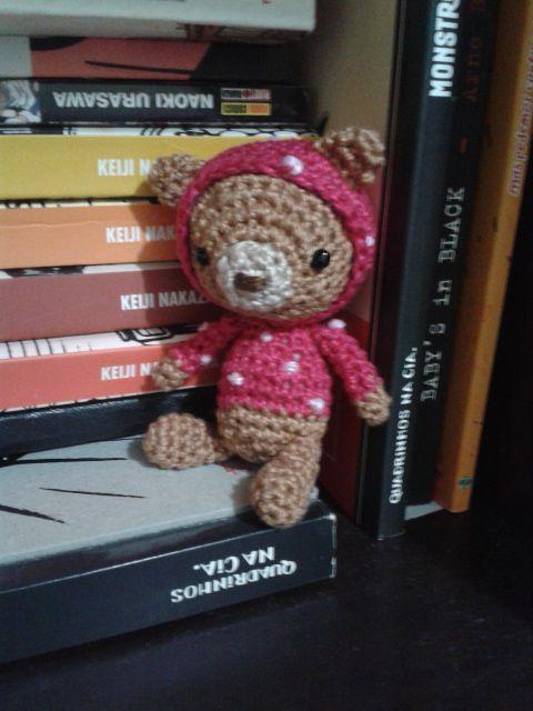 Ursinho de croche... muito fofo! Com receita: Cora Ação, De Cora