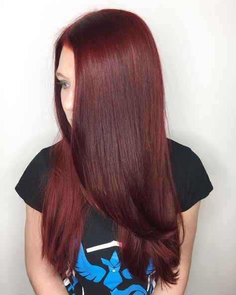 Rich Deep Burgundy Red Aveda Hair Color By Artist Raul Delgado