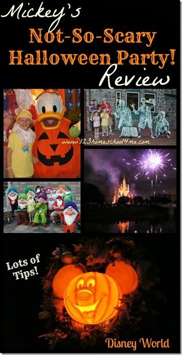 Mickey's Not So Scary Halloween Party  Disney World Review at #magickingdom in #disneyworld - tips, strategies, and what characters are where so you can make the most of your limited time!!