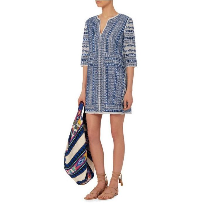 The Ten Best Summer Dresses On Sale // #8 Love Sam Embroidery Tunic: Blue