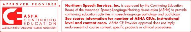 ASHA CEU Course | Online Continuing Education Speech Pathology