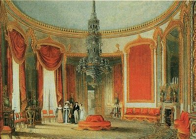 Fine Arts Magazine A Typical Regency Era Interior Showing The Ample Use Of Red An Influence China Trade