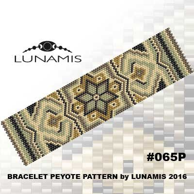 Peyote bracelet pattern peyote pattern por LunamisBeadsPatterns                                                                                                                                                                                 Más