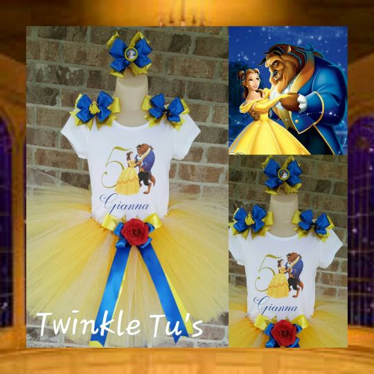 Belle Beauty and the Beast Tutu Outfit – Twinkle Tu's