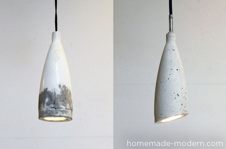 Wow: these industrial chic DIY concrete lamps cost under ten dollars to make and use old soda bottles as molds. Weekend project!
