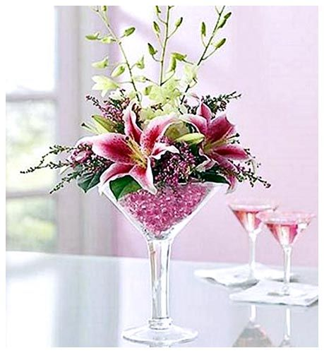 Martini Glass Centerpiece Pink : Best margarita flower ideas on pinterest daisies