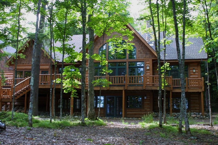 26 best images about ntb hand scribed log lake home in for How to find a home builder in your area