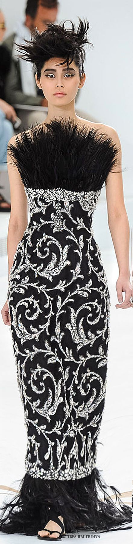 The dress is chanel - Chanel Haute Couture Fall 2014 The House Of Beccaria
