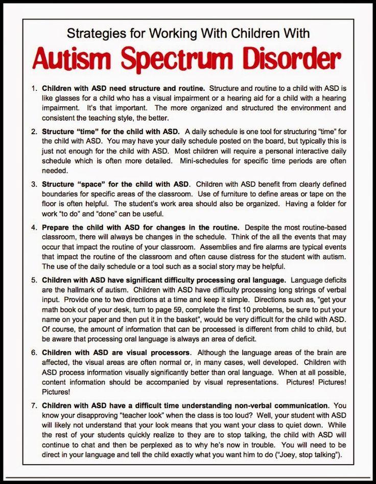 Free Handout for Understanding Autism - Classroom Freebies
