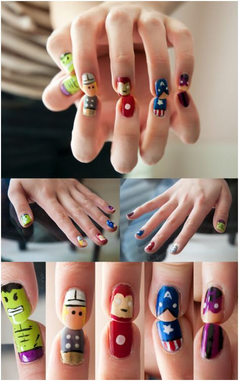 Community Post: 31 Images Of Gorgeously Geeky Nail Art