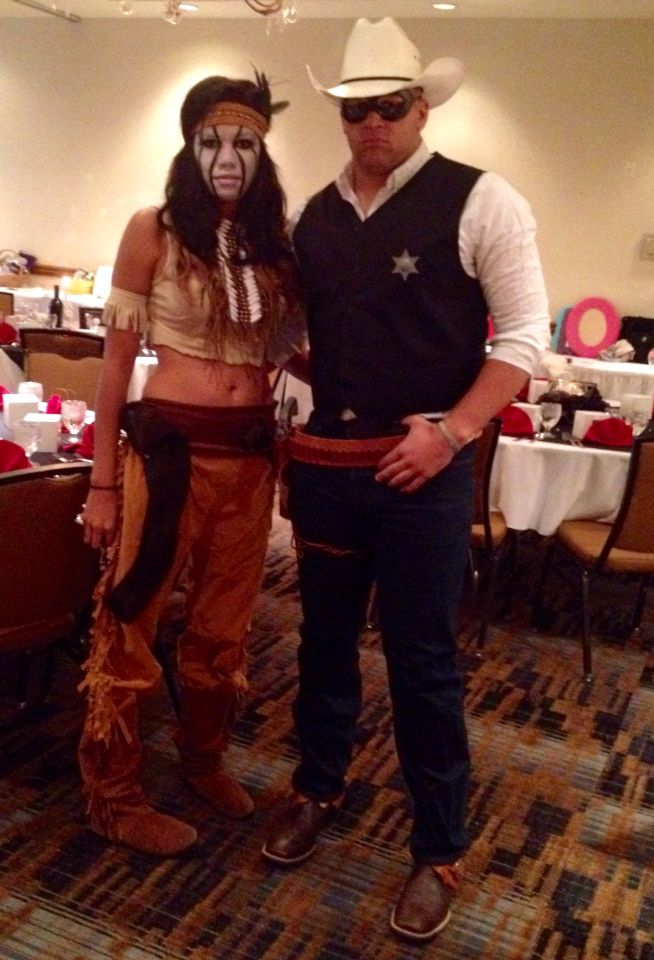 Our Lone Ranger and tonto costumes for the #peachsneetfeet gala this year.