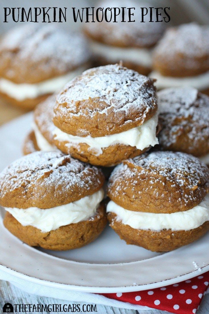 These moist and delicious Pumpkin Whoopie Pies with Cream Cheese Frosting, are the perfect dessert this holiday season! #ad #SendHallmark