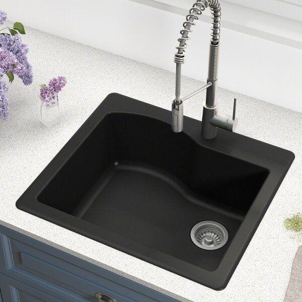 Quarza 25 L X 22 W Dual Mount Kitchen Sink Single Bowl